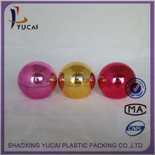 Shangyu yucai packaging acrylic cream jar red 50g round ball plastic container acrylic cosmetic jar