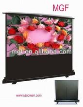 4:3/16:9Portable Pole Floor Standing Projection Screen with Aluminum Case/Factory Price Floor Screen/Pull up Rasing Floor Screen