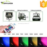 New products Color Changing RGB Epistar chip 10w 20w 30w 50w 70w 100w 150w led flood light led outdoor lighting led floodlight
