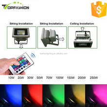 New products Color Changing RGB Epistar chip 10w 20w 30w 50w 70w 100w 150w led flood light led outdoor lighting led floodlight