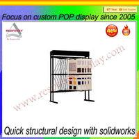 Stylish Leaflet Display Stand,Metal Tiered Information Holder