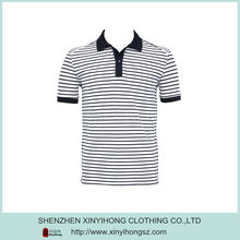High Quality Combed Cotton Spandex Mens Striper Polo Shirts
