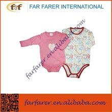 100% Cotton long sleeves soft baby romper/Infant romper/Baby body suit