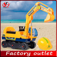 High quality Children pedal car Electric toys tractor for kids ride on toy excavator with helmet