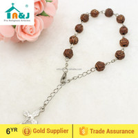 Catholic rose beads car rosary