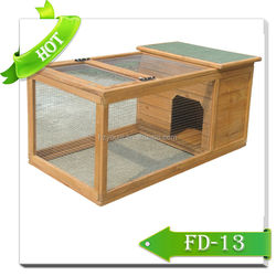 Eco-Friendly pet cage Optional Coop Run wood rabbit kennel house
