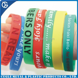 High quality cheap price promotional silicon bracelets / silicone bracelets with custom logo
