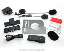 Shenzhen interphone bt bluetooth waterpoof wireless 1000m walkie talkie up to 2 riders full duplex FNC Motorcycle intercom