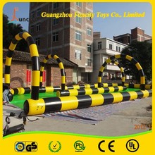 0.6mm thickness PVC tarpaulin inflatable zorb ball track for customization