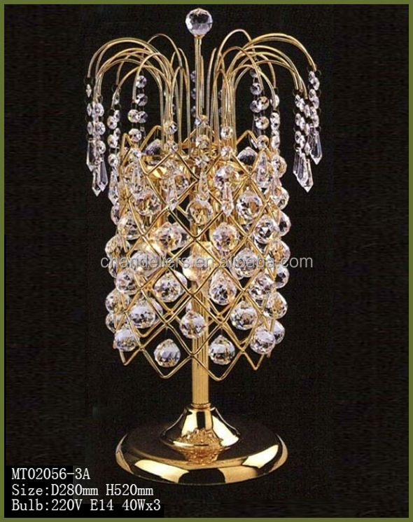 crystal chandelier table lamp view table lamps modern winru product. Black Bedroom Furniture Sets. Home Design Ideas