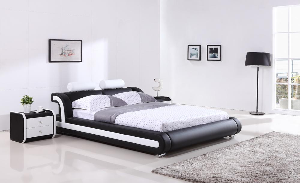 ... g993# (1).jpg ... & Latest Design Modern Wave Shape Black King Size Leather Bed 1025 ...