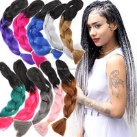 48 Inch Jumbo Braid Hair Wholesle Top Quality Ombre Color Many Color You Can Chooose 100g Premium Ultra Africa