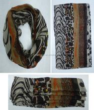 2015 new fashion all-match leopard splicing scarf