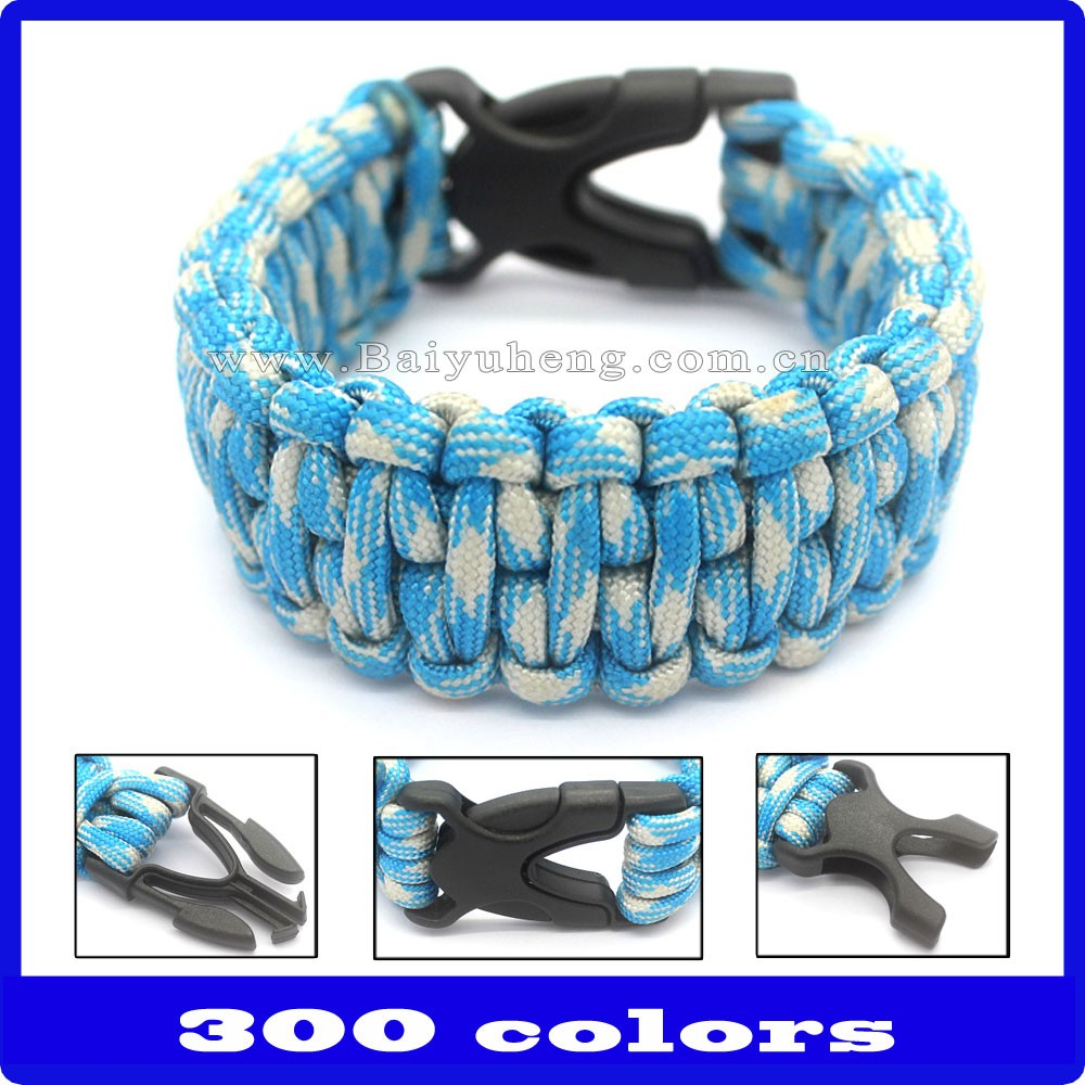 different types of 550 paracord survival bracelet with