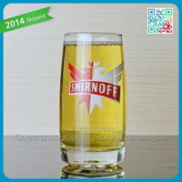Summer cool wheat beer glass cup with SMIRNOFF decal logo hot sale glass beer mugs wholesale beer steins