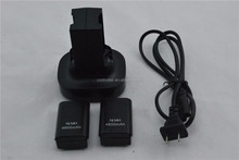 Dual Charger Base Charging Station Dock 2 Rechargeable Battery 4800mAh for xbox 360 Controller