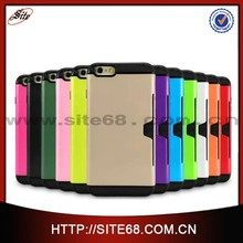 5.5 inch wholesale card slot style fancy cell phone cases with card holder for iPhone 6 plus
