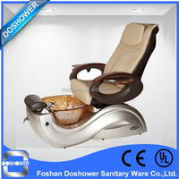 DS-5557 2015 spa joy pedicure chair for nail salon with glass bowl and fiberglass tub