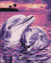 GX 7660 whale acrylic color by numbers oil painting pictures