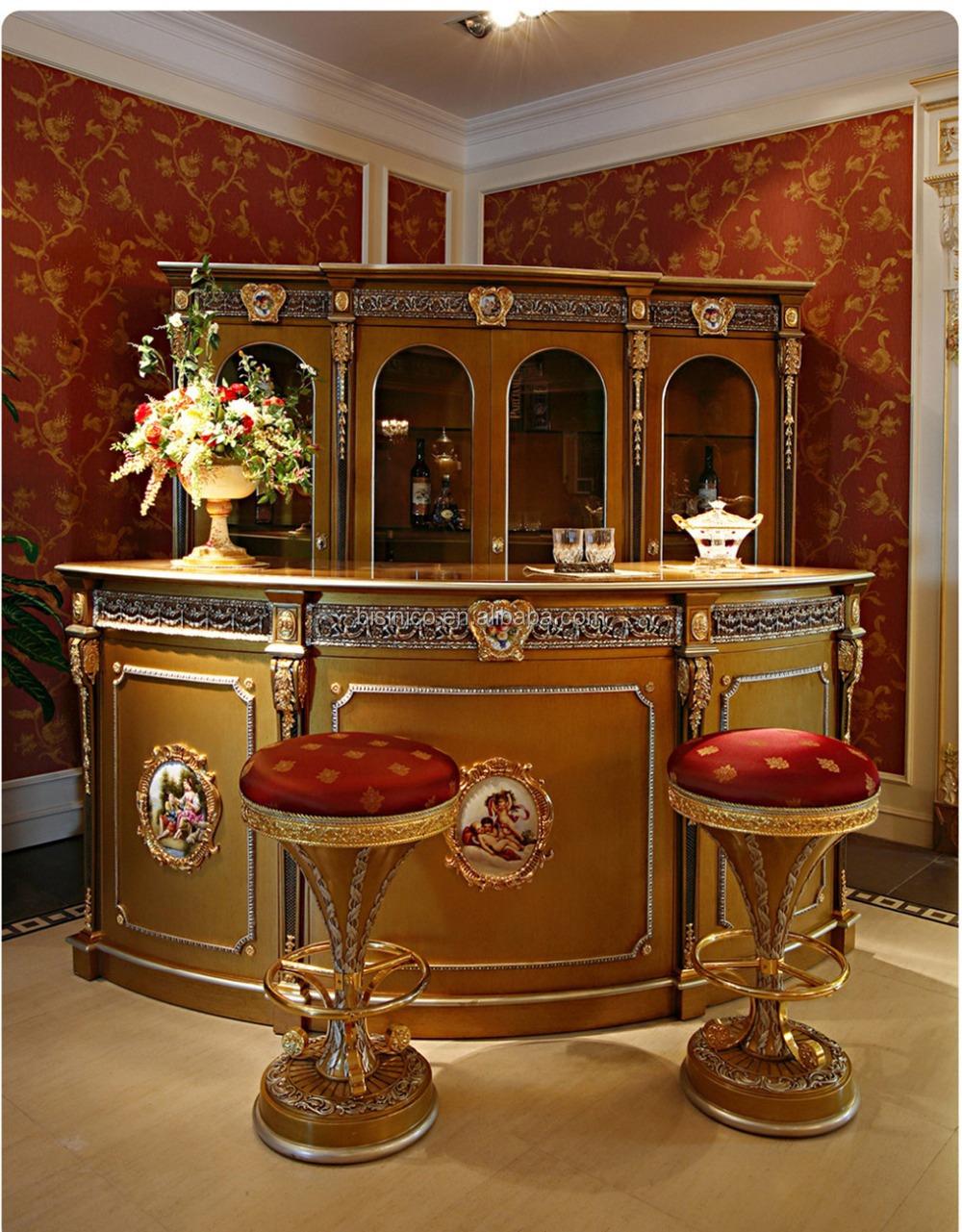 luxe fran ais louis xv style golden bar meubles. Black Bedroom Furniture Sets. Home Design Ideas