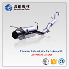 Hot sale titanium 1 inch car exhaust straight pipe motorcycle