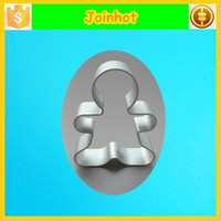 Man shaped pastry and dough modelling aluminum gingerbread cookie cutter