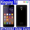 Fast Delivery Kingsing T8 Cell Phone MTK6592 Octa Core Android 4.4 5 Inch IPS 854X480 1GB RAM 8GB ROM 5.0MP Dual Sim WCDMA