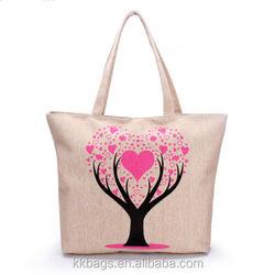 Canvas Women Reusable Casual Tote Handbags Promotional Cheap Logo Shopping Bags