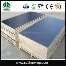 full whole poplar veneer core phenolic film faced plywood for construction