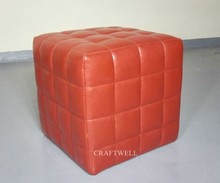 microfiber leather modern square foot stool