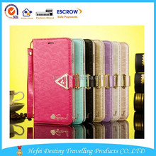 2015 new product high quality fashional practical special design phone 6 wallet case