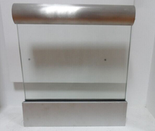 exterior framless decking aluminum u channel railing with CE cetificate laminated glass