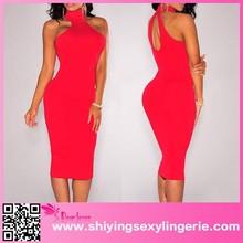 Señora moda de noche venta al por mayor 2015 recién llegado de calidad superior vestidos rojos del partido