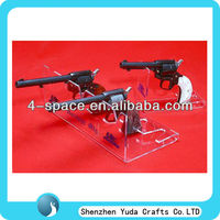 L shape gun display stand,antique gun racks,acrylic gun display for gun