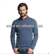 Delicate And Noble Men's Round Neck Sweater Wool