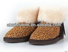 D60682A 2013 KOREAN VERSION OF THE NEW AUTUMN AND WINTER WARM FUR COLLAR FRINGED SHEEPSKIN WOOL SNOW BOOTS