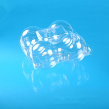 small cunstom fold clear plastic apple fruit packaging box