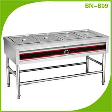 de alta calidad de acero inoxidable parte superior de vidrio comida buffet caliente