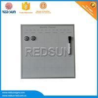 Aluminium frame with plastic corner magnetic whiteboard for refrigerator