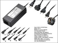 12V 5A 60W Switching AC/DC Adapter Power Supply (4.0*1.7)mm