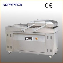 automatic swing cover big double chamber vacuum packaging machine