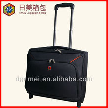 hot sale 1680D polyester trolley laptop case ,travel trolley pilot case