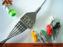 Fukuda Denshi 0012-00-1192 one piece 5 lead ECG Cable,IEC,clip