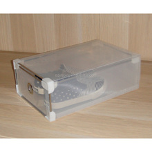 transparent plastic shoes storage box