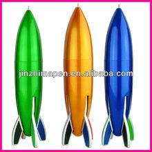 rocket shaped pen 4 colors pen