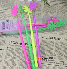 New lucky flower rubber gel ink pen for promotion