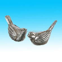 hot sale christmas silver indoor decorative resin birds