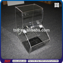 TSD-A135 China factory acrylic confectionery box/candy store acrylic confectionery bins/acrylic sweet box for confectionery