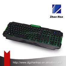 Mechanical type Spanish layout LED backlit multimedia gaming keyboard