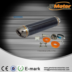 carbon fiber exhaust muffler motorcycle for 500CC